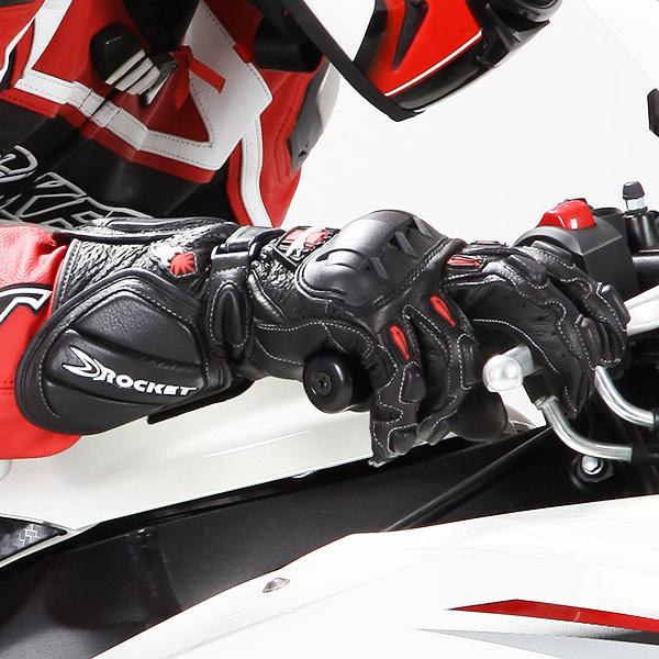 Luva Joe Rocket GPX 2.0 Preta Esportiva  - Nova Suzuki Motos e Acessórios