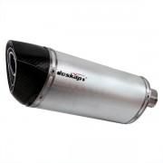 Escapamento Jeskap Three Carbon Yamaha Fazer 600 20cm (o PAR) (Alum/Preto/Aço escovado/ Carbono)