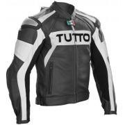 Jaqueta Tutto Moto Titanium couro / Esportiva