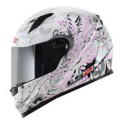 Capacete LS2 FF358 Floral Pink Feminino