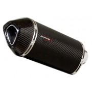 Escapamento Jeskap Three Carbon Honda CB 1300 27 ou 35cm (Alum/Preto/Aço escovado/Carbono)
