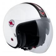Capacete Nexx X70 Groovy Branco c/ Preto Tri-Composto - Aberto