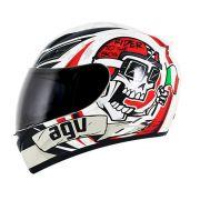 Capacete Agv K3 Ride To The Bone - White