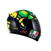 Capacete Agv K-3 Turtle Réplica Oficial Valentino Rossi