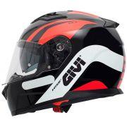 Capacete Givi 50.5 Pista Black/Red/White C/ Viseira Solar