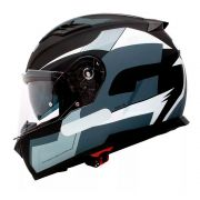 Capacete Givi 50.5 Sports Black/Grey/White C/ Viseira Solar