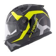 Capacete Givi 50.5 Vortix Black/Yellow C/ Viseira Solar