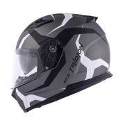 Capacete Givi 50.5 Vortix Matte Titanio/Grey/White C/ Viseira Solar
