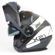 Capacete Givi X21 Globe Challenger - Grey/White Escamoteável/Articulado
