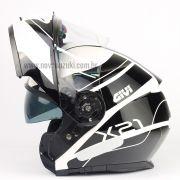 Capacete Givi X21 Globe Challenger - White/Black Escamoteável/Articulado