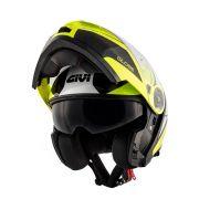Capacete Givi X21 Globe Challenger - Yellow/Black Escamoteável/Articulado