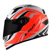 Capacete LS2 Classic FF358 Blade - White/black/red