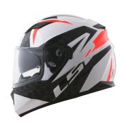 Capacete Ls2 FF320 Stream Commander - Black/White/Red - C/ Viseira Solar
