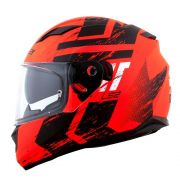 Capacete Ls2 FF320 Stream Evo Hunter - Matte Black/Orange - C/ Viseira Solar