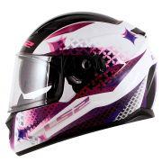 Capacete LS2 FF320 Stream Lux White/Purple - feminino