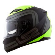 Capacete Ls2 FF320 Stream Orbital - Black/Grey/Yellow - C/ Viseira Solar