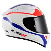 Capacete LS2 FF323 Arrow R Burner White/Red/Blue