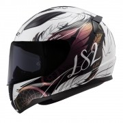 Capacete LS2 FF353 Rapid Boho - branco/preto/rosa