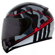 Capacete LS2 FF353 Rapid Bravado - Grey Camo/Red