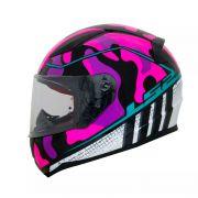 Capacete LS2 FF353 Rapid Bravado - Pink Camo/Blue