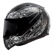 Capacete LS2 FF353 Rapid Crypt - preto/branco