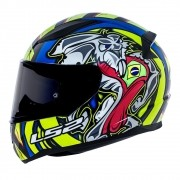 Capacete LS2 FF353 Rapid Réplica Alex Barros - azul