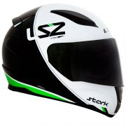 Capacete LS2 FF353 Rapid Stark - Black/White/Green