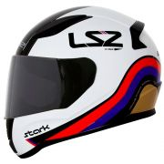 Capacete LS2 FF353 Rapid Stark - White/Red/Blue/Gold
