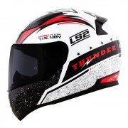 Capacete LS2 FF353 Rapid Thunder - branco/preto/vermelho