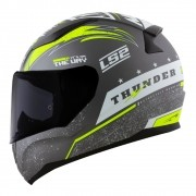 Capacete LS2 FF353 Rapid Thunder - cinza/branco/amarelo fluo