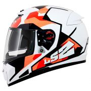 Capacete LS2 FF390 Breaker Sergent - White/Red/Orange