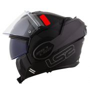 Capacete LS2 FF399 Valiant Prox matte BLK/TITANIUM  - Escamoteável
