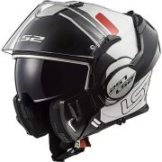 Capacete LS2 FF399 Valiant Prox WHT/RED/BLACK - Escamoteável