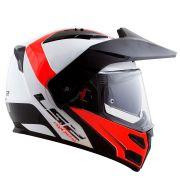 Capacete LS2 Metro Evo FF324 Rapid Articulado - White/Red