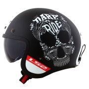 Capacete LS2 OF599 Spitfire Inky - Matte Black/White