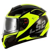 Capacete LS2 Vector FF397 Evo Favorer - Black/Fluo/Grey