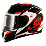 Capacete LS2 Vector FF397 Evo Favorer - Black/White/Red