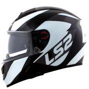 Capacete LS2 Vector FF397 Evo Wavy - Black/Titanium/White
