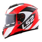 Capacete LS2 Vector FF397 Evo Wavy - Black/White/Red