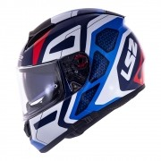 Capacete LS2 Vector FF397 Evo Interceptor - azul/vermelho