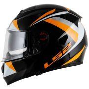 Capacete LS2 Vector FF397 Labyrinth - Black/Orange