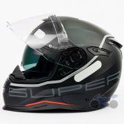 Capacete Nexx SX100 Super Speed Preto Fosco Com Viseira Solar e Pinlock Anti-Embaçante