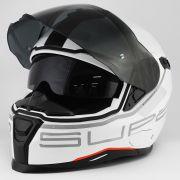 Capacete Nexx SX100 Super Speed Branco Com Viseira Solar e Pinlock Anti-Embaçante