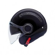 Capacete Nexx SX10 Preto Brilho - Aberto com Viseira Solar