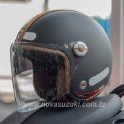 Capacete Nexx X70 Groovy Preto c/ Caramelo Tri-Composto - Aberto