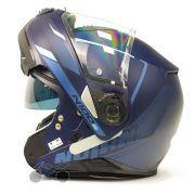 Capacete Nolan N100-5 Lumiere Azul Fosco (40) - Articulado C/ Viseira Solar - Ganhe Touca Balaclava