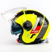Capacete Nolan N21 Spheroid Amarelo (47) - Aberto C/ Viseira Solar Interna (AGV Blade)