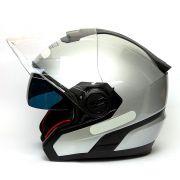 Capacete Nolan N40 Special Cinza (11) - Aberto Com Viseira Solar