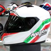 Capacete Nolan N64 Italy Metal White - Ganhe Touca Balaclava