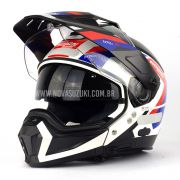 Capacete Nolan N70-2 X Grandes Alpes Tricolor - Big Trail / Off Road